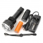 SmallSun ZY-T16 692lm 5-Mode White Lengthened Flashlight w/ Cree XM-L T6 - Black (1~2x26650/1x18650)