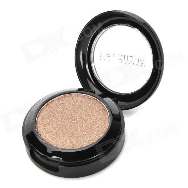 Portable Cosmetic Makeup 1-Color Shining Eye Shadow - Coffee cosmetic makeup 24 color eye shadow 3 color grooming powder 3 color blusher palette black
