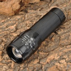 SmallSun ZY-L30 80~120lm LED White Light Zooming Flashlight - Black (3 x AAA)