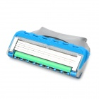 Replacement Manual Shaver Razor 5-Blade Heads - Blue + Grey + Green (8 PCS)