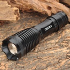 M13005 Cree XM-L T6 800lm 5-Mode White Zooming Flashlight - Black (1 x 18650 / 3 x AAA)