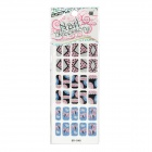 GR-048 3D French Style Glitter 30-in-1 Nail Art Sticker - Multicolored