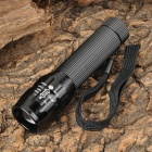 SMALL SUN ZY-516 Mini 120lm White LED Zooming Flashlight - Black (1 x AA)