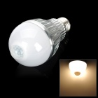 JOYDA-002 E27 5W 480lm 3200K 10-SMD 5630 LED Warm White Light IR Induction Bulb - White (AC 85~265V)