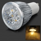 GU10 4W 360~400lm 3100~3300K 4-LED Warm White Light Spot Lamp - Silver (85~265V) 