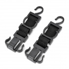 Multi-Function Vehicle Seat Plastic Car Hooks - Black (2 PCS)
