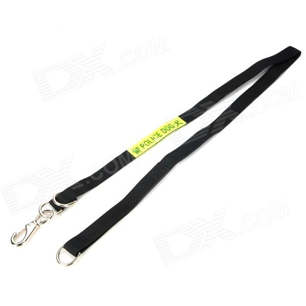 Reflective Police Dog Traction Leash - Green + Black (120cm)
