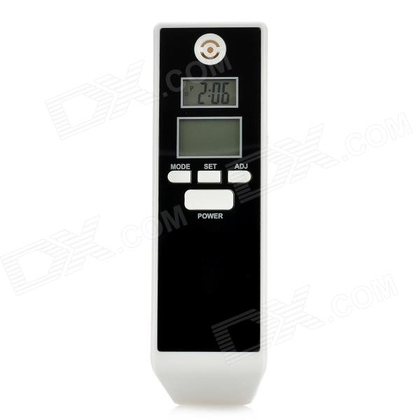 1.2 / 1.4 Dual- LCD Digital Alcohol Breath Tester - Black + White (2 x AAA) alcohol and liquid container bottle white 180ml