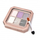 05 Ultra-Thin Cosmetic Makeup 6-Color Waterproof Shining Eyeshadow - Black + More