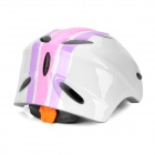 OQsport 004 Outdoor Sports Cycling Helmet for Kids - White + Pink + Purple