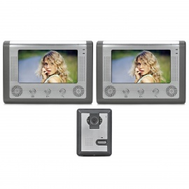 """SY801MA12 1-To-2 7"""" TFT Rainproof Wired 3.6MM Digital Video Door Phone w/ Night Vision - Grey"""