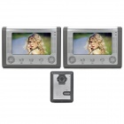 "SY801MA12 1-To-2 7"" TFT Rainproof Wired 3.6MM Digital Video Door Phone w/ Night Vision - Grey"