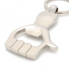 Cute Hand Bottle Opener Shape Zinc Alloy Keychain - Silver