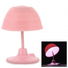 USB Creative Changeable Flexible Neck 12-LED White Lamp w/ Suction Cup - Pink