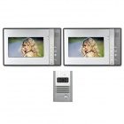 "SY802MB12 1-к-2 7 ""TFT Rainproof проводной 3.6mm Digital Video Door Phone ж / Night Vision - Grey"