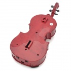 KXT-3# Violin Shaped Wired Telephone - Dark Red + Black