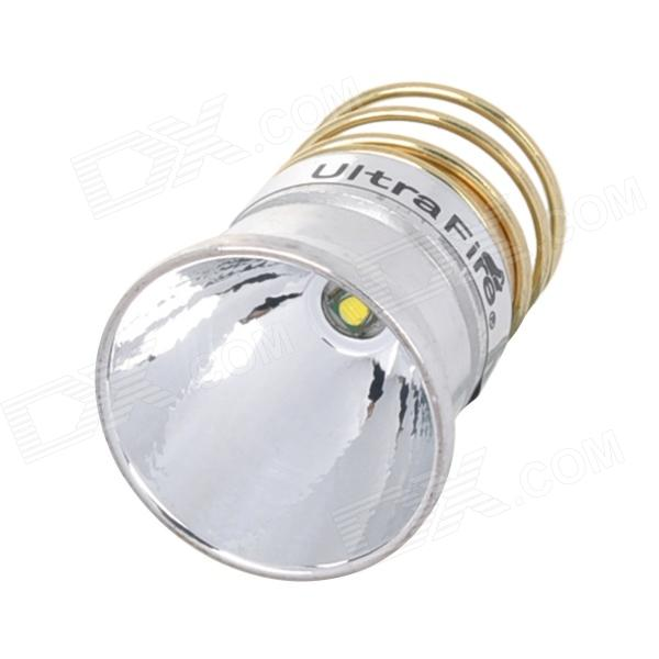 UltraFire 340lm 3-Mode White Aluminum Textured Reflector Drop-In Module w/ CREE XP-G R5 - Silver