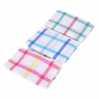 QIANMEI QM/0077 Cotton Fiber Household Cleaning Cloth - Green + White + Red + Blue (3 PCS)