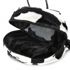 Doomagic Cute Cow Style Anti-Lost Children Backpack Bag w/ Strap - White + Black