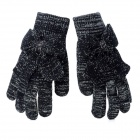 Stylish Bowknot Style Capacitive Screen Touch Touching Hand Warmer Gloves - Black + Silver (Pair)