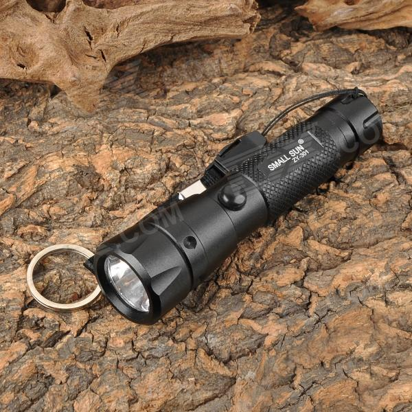 SMALL SUN ZY-301 Mini 90lm White LED Flashlight - Black (1 x AA)