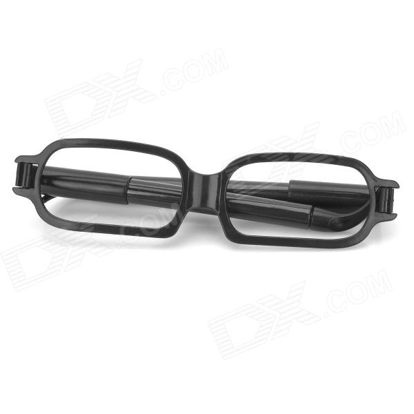 ZX-1218 Creative Cute Multi-functional ABS + PVC Eyeglasses Style Ball-point Pens - Black (2 PCS)