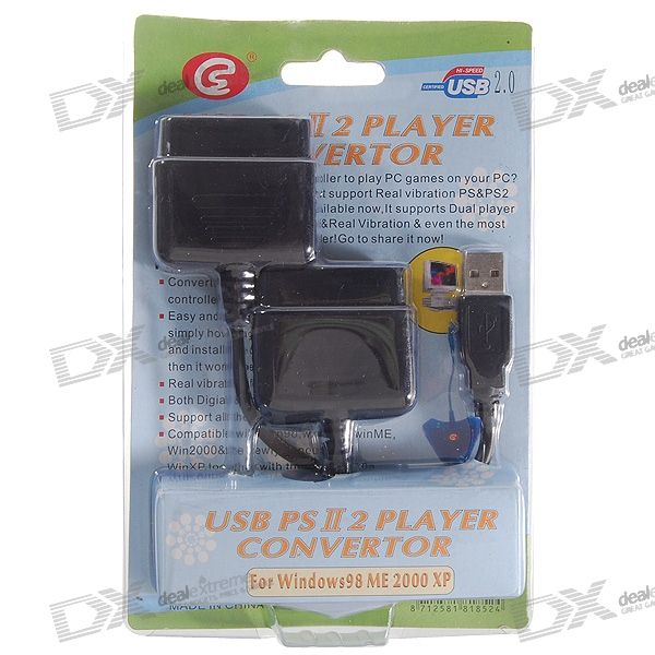 2 * PS2 Game Controllers to PC USB Convertor