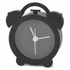 WL006 Cute Mini Silicone Round Shaped Alarm Clock - Black