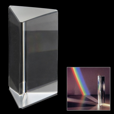 Optical Triple Triangular Glass Prism Spectrum - White