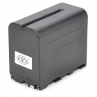 "New-View NP-F960 Replacement ""6600mAh"" Rechargeable Li-ion Battery for Sony Camcorders - Black"