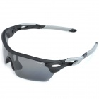 KaShiLuo 9369-1 Bicycle Riding Polarized UV400 Protection Sunglasses - Black + Grey