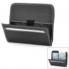 3P P3106 Multi-functional PU Hanging Type Car Storage Bag - Black
