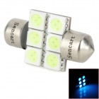 SENCART Festoon 31mm 540nm 84lm 6-SMD 5050 LED Ice Blue Reading Lamp / License Plate Lamp (12V)