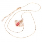 KCCHSTAR BK-4043 Bee Style 18K Alloy Plating Gold w/ Crystal Pendant Necklace for Women - Golden