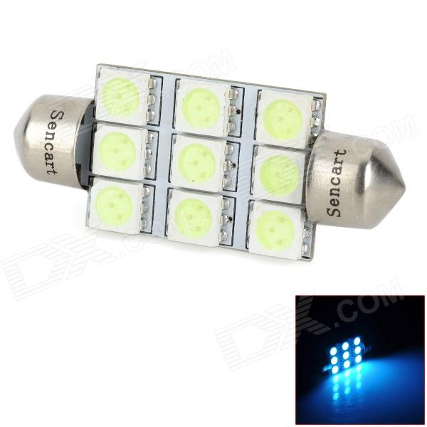 SENCART Festoon 40mm 1.2W 9-SMD 5050 LED Ice Blue Reading Lamp / License Plate Lamp (12V)