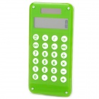 1.8&quot; LCD Creative Fuselage Solar Powered 10-Digit Calculator - Green + Transparent