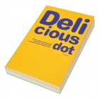 B150 Delicious Dot Notebook Diary - Yellow (200-Pages)