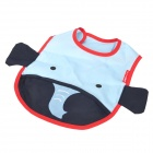 Elephant Style Water Resistant Baby's Bib w/ Velcro Band - Light Cyan + Dark Blue + Red