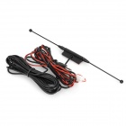 Waterproof Digital Car TV Antenna w/ FM Radio - Black