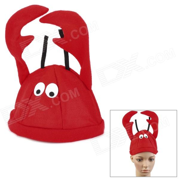 Lobster Style Children's Soft Plush Cap - Red