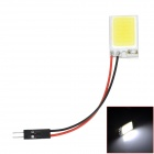 LY206 T10 + BA9S + Festoon 2W 6000K 120lm 1-SMD LED White Light Reading Lamp / Room Lamp (DC 12V)