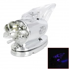 Wind Powered RED + Blue Light 2-LED Vehicle Lamp
