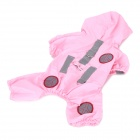 Waterproof PTFF Pet Raincoat for Dog Cat - Pink (S-Size)