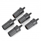 Car Cigarette Lighter Plastic Socket Set - Black (5V~48V / 5 PCS)