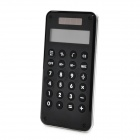 AQ446 10-Digital Solar Powered Calculator w/ Maze Game - Black
