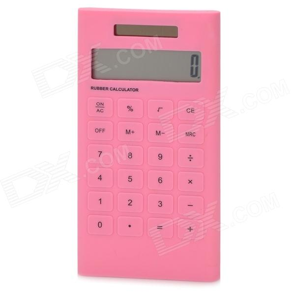 AQ408 1.8 LCD Display Solar Powered 10-Digit Pocket Calculator - Pink 2pcs colorful pocket solar power calculator