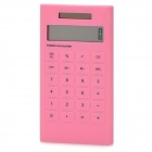 AQ408 1.8&quot; LCD Display Solar Powered 10-Digit Pocket Calculator - Pink