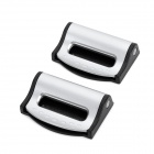 SD-1604 Universal Car Safety Seat Belt Clips - Silver (Pair)