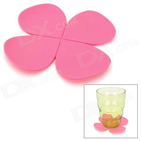 Creative Flower Style Thermal Resistance Resin Coaster / Table Mat - Pink