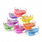 Heart Shape Sparkles Smokeless Candle - Colorful (8 PCS)
